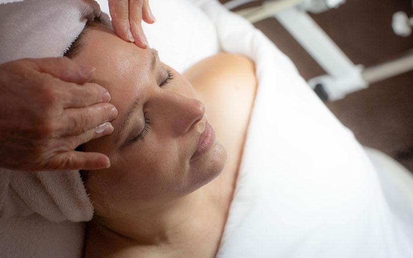 Woman Moisturizing Facial